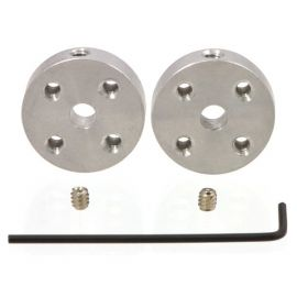Pololu Universal Aluminum Mounting Hub for 4mm Shaft, #4-40 Holes (2-Pack)