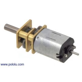 400RPM Micro Metal Gearmotor HP 6V with Extended Motor Shaft