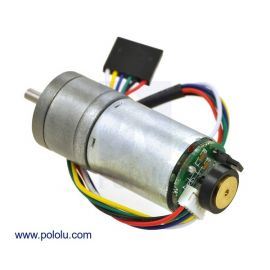 130RPM Metal Gearmotor 25Dx54L mm HP 6V with 48 CPR Encoder