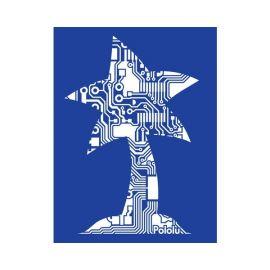 3000-Pololu Circuit Logo T-Shirt: Royal Blue, Youth XS