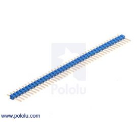 "0.100"" (2.54 mm) Breakaway Male Header: 1×40-Pin, Straight, Blue"