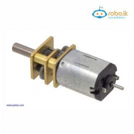 150 RPM Micro Metal Gearmotor MP 6V with Extended Motor Shaft