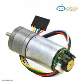 290RPM Metal Gearmotor 25Dx52L mm HP 12V with 48 CPR Encoder