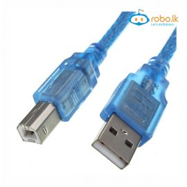 USB 2.0 A-B Male Printer Cable 1m