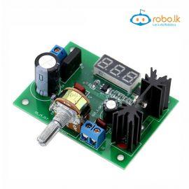 DC Buck Step Down Converter Module LM317 Voltage Regulator LED Voltmeter 5V 12V