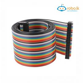 40Pin Flat Rainbow Ribbon Dupont Cable 2.54mm Pure Copper AWG24 50Meter/Reel