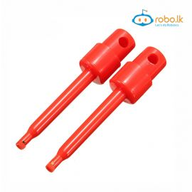 Round Large Single Test Hook Clip Test Probe Red