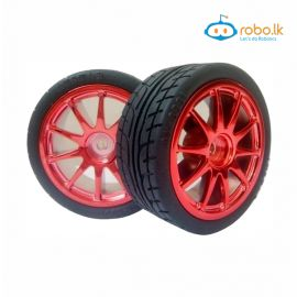 85mm Large Robot Smart Car Wheel, 38mm Width Surface Red
