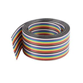 40Pin Flat Rainbow Ribbon Dupont Cable 1.27mm Pure Copper cost per ft