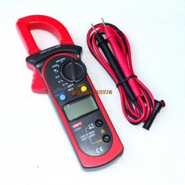 UT201 LCD Digital Clamp Multimeter Ohm DMM DC AC Current Voltmeter